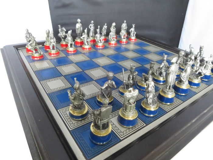 The Battle of Waterloo chess set - of Franklin Mint.  sc 1 st  auctions - Catawiki & The Battle of Waterloo chess set - of Franklin Mint. - Catawiki