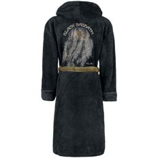 Black Sabbath Hooded Bathrobe With Satin Never Say Die Logo / Tour 78