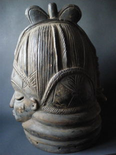 Dance Cap / mask of a secret society of the Mende of Sierra Leone - West Africa fetish - ritual headgear