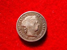 Spain - Isabel II (1833-1868), one silver real - Madrid 1861