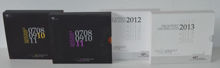 The Netherlands - Year packs (Proof) 2010, 2011, 2012 and 2013 (4 pieces)