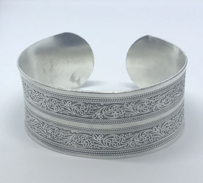 925 Sterling Silver Unique Cuff Bracelet