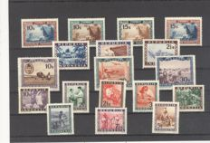 World - collection on stock cards and 4 stock books, box FDC The Netherlands.
