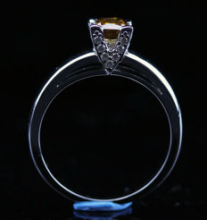 18K Diamond ring, 1.12 ct with Official certificate. - NO RESERVE