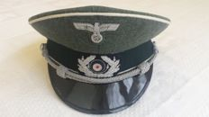 "III  Reich Infantry Officer Cap similar to the one seen in the movie ""Escape to Athena, 1979"" with Roger Moore"