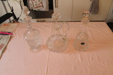 3 Crystal decanters saint louis