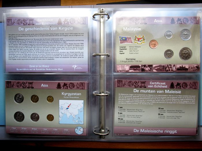 Asia coin sets coins of the world different sets in an