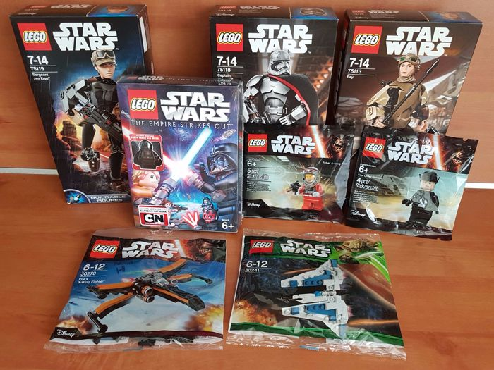 Star Wars Assorti - 5119 + 75113 + 75118 + 30241 + 3027 + 5004408 +  5004406 + DVD Empire strikes out +Darth Vader exclusive minifig.