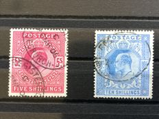 Great Britain - King Edward VII 5 and 10 shilling
