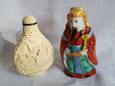 Pair of Chinese snuff bottles , early 20th century ,