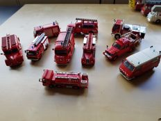 Del Prado - Scale  1/55 - Lot with 10 Fire Department models