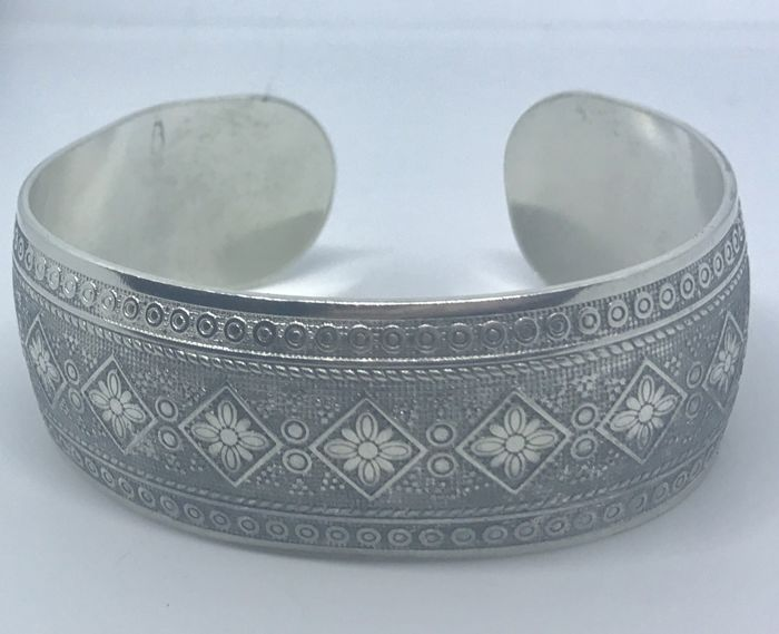 Sterling Silver Ornate Cuff Bracelet