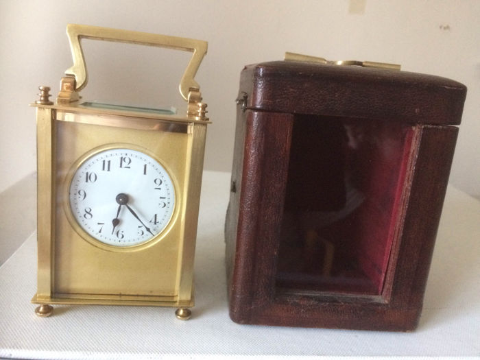 French Carriage Clock With Case - Circa 1915
