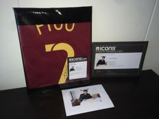Luis Figo - Hand Signed Portugal World Cup 2006 shirt in cover + COA ICONS + Photoproof!