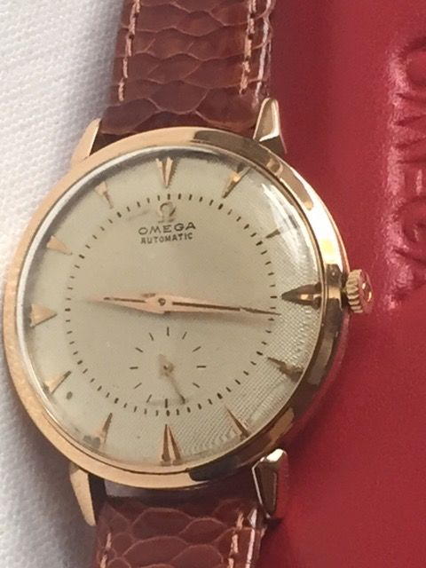 Omega-Automatic-(18K 0.750) Yellow Gold-Jumbo Size