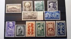 Italy, Republic, 1949 - small lot of 12 stamps