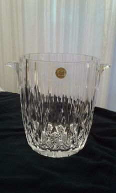 Ice bucket in crystal d' Arques marked Martini
