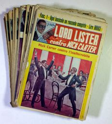 J. C. Raffles - Lord Lister contro Nick Carter - 34x albums 1/36 (missing issues 22-30) - 1945