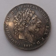 United Kingdom - Crown 1819 LX George iii - silver