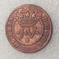 Portugal – Monarchy –  D. João V – X Réis 1713 – With a dot above the 'J' – Very difficult to find