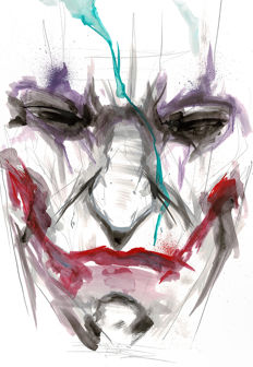 The Joker By Street Artist ANTISTATIK - Original Acrylic Painting