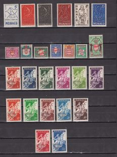 Monaco 1954/1962 - Terrestrial and Aerial Mail, Set of Complete Series