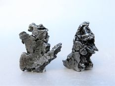 Campo del Cielo - iron nickel meteorites - 38 x 32 mm and 37 x 26 mm - 22.48 g and 30.13 g (2)