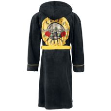 Guns N' Roses Hooded Bathrobe With Satin GNR Logo