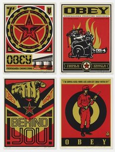 Shepard Fairey (OBEY) - Supply & Demand Retro Print Set