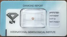 Natural Fancy Pink-Brown Diamond 0.07 ct  with IGI cert *** no minimum price***