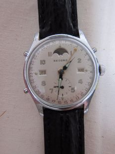 Record chronograph with triple date and moon phase - Men´s - 1950–1959