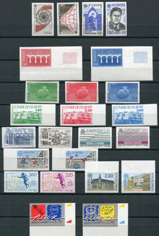 France 1983-1985 - Europa, Imperforate - Yvert 2270/71, 2309/10, 2366/67, 2471/72, 2531/32, 2584/85, 2642/43, 2941/42, (Service) 85/87, 93/95, 100/01 ND.