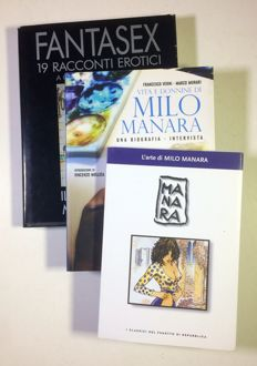 Manara, Milo - 3x volumes - hardcover and paperback editions (1993-2008)