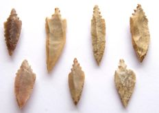 Lot with arrowheads from Niger - 61 - 38 mm (7)