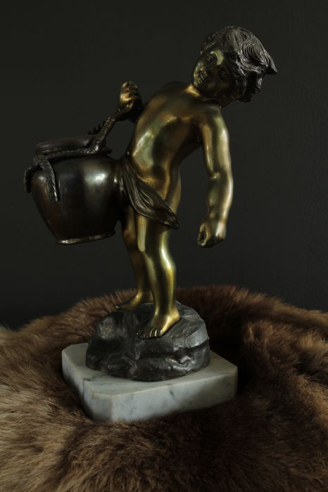 Napolli P. Uccello - Boy with water pitcher on marble base