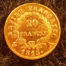 France - 20 Francs 1813 A (Paris) - Napoleon I - Gold