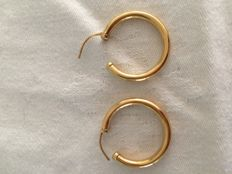 18 kt gold creole earrings - 2.5 cm
