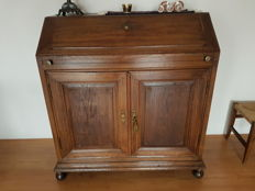 Oak secretaire à abattant in Louis XVI style - 1st half 19th century