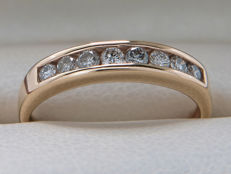 Certified gold diamond channel / enhancer ring with 0.25 in diamonds - ** No Reserve Price**.