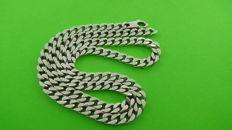 925 silver necklace with flat curb links - 51,5 cm - 37,89 grams