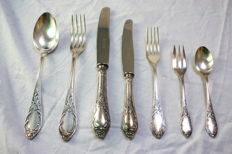 silverplated roccoco cutlery