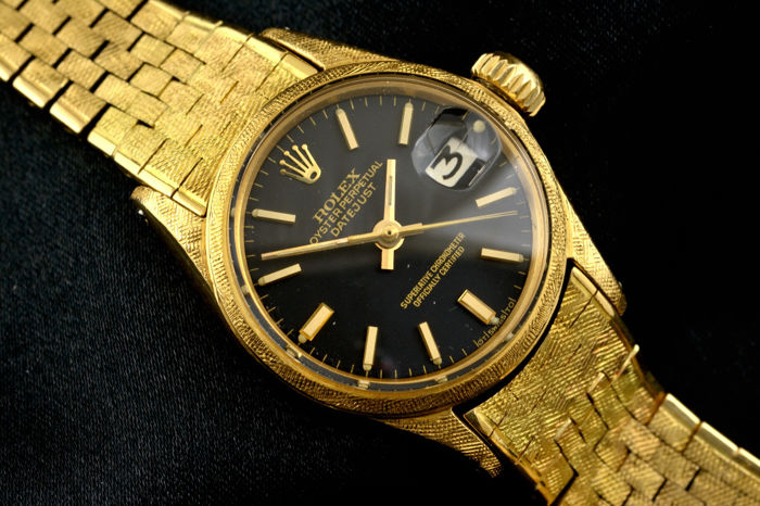 Rolex Oyster Perpetual Datejust 18k gold ref 6520 - Catawiki 32b371aa3d11