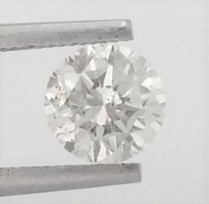 1.04 carat - Round Brilliant Cut  - F color - SI1 clarity- Comes With AIG Certificate + Laser Inscription On Girdle