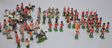 Britains, England - Height 6-10 cm - Lot with 80 figures, 49 metal and 31 plastic, 2nd half of 20th century