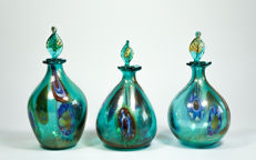 Francesco Fabris - Trio of Murrine and gold bottles