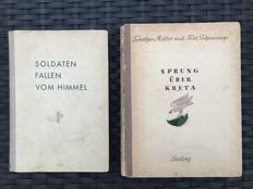 Air war; Lot with 2 German Fallschirmjäger books from WW II - 1940/1944