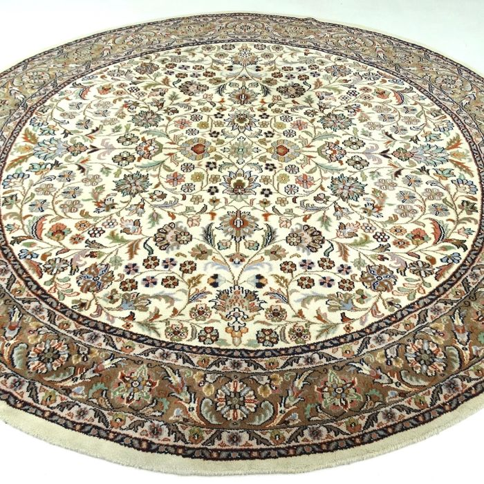 Round Sarough - 241 cm in diameter - 'Oriental carpet in natural shades - In mint condition' - With certificate
