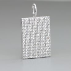 White gold pendant with 1.00 ct excellently cut E - F / VVS - VS diamonds