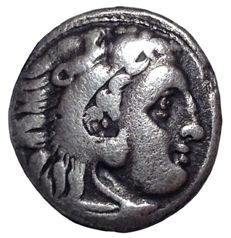 The Greek Antiquity - Macedonian Kingdom - Alexander III, the Great (336-323 BC) - AR Drachm (Silver, 17mm, 3,89g.), Kolophon mint, 310-301 BC - Head of Herakles / Zeus - Price 1808; Muller 796; SNG Cop 928.
