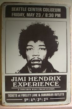 Cool Jimi Hendrix Vintage Retro Metal Sign Plaque Home Decor Studio Room Pub Workshop